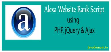 alexa website rank script using php, jquery & ajax