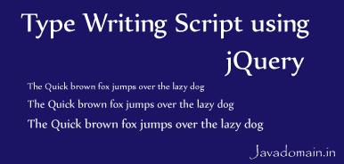 type writing script using jQuery